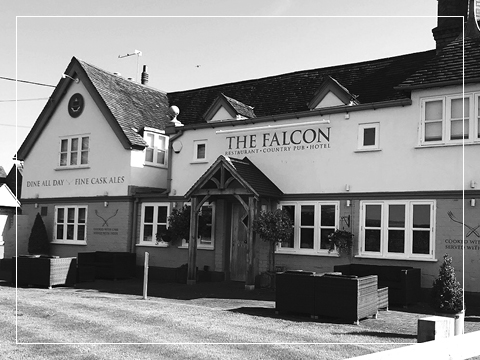The outside view of The Falcon at Hatton