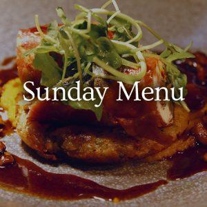 Sunday Menu - view menu